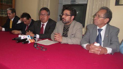 Miembros del Colegio Médico de Bolivia.