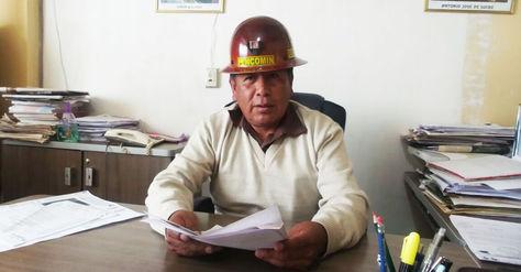 Simón Condori, presidente del Consejo de Adminitración Fedecomin-La Paz