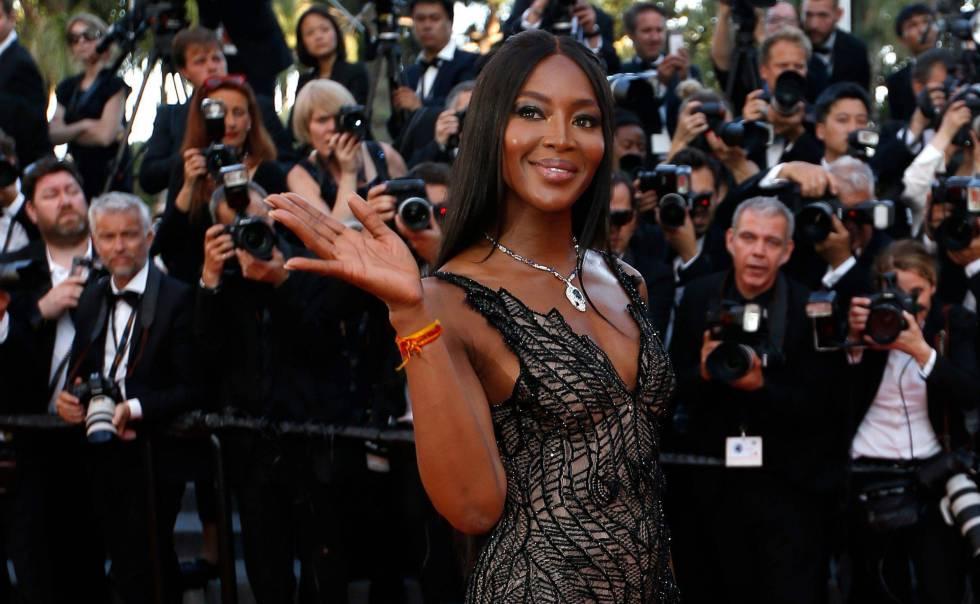 La modelo Naomi Campbell, en el Festival de Cannes.