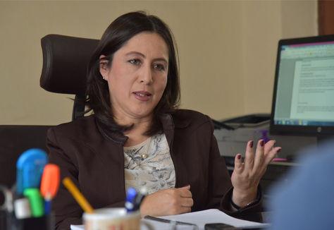 La viceministra de Gestión Institucional y Consular, Carmen Almendras. Foto: Archivo La Razón