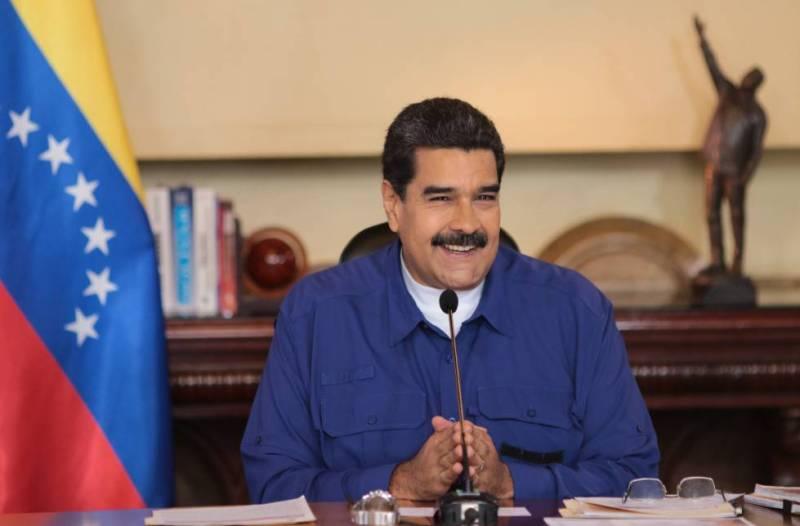 Nicolás Maduro, este lunes en Caracas.