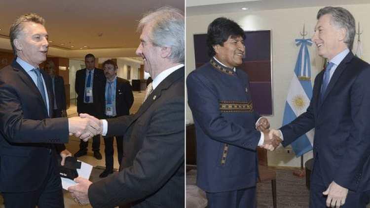 Mauricio Macri recibió hoy a Vázquez y a Morales en reuniones por separado