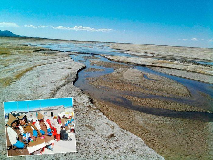 Uru Chipaya, un municipio que está en proceso de conversión a autogobierno indígena, enfrenta la escasez de agua, sus habitantes requieren agua dulce para su consumo y para los riegos, además piden mayor atención de las autoridades a esa región.