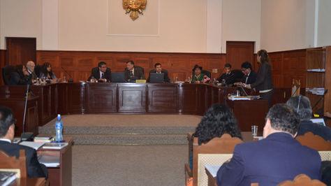 """Audiencia del juicio por los """"Misiles Chinos"""" en Sucre"""
