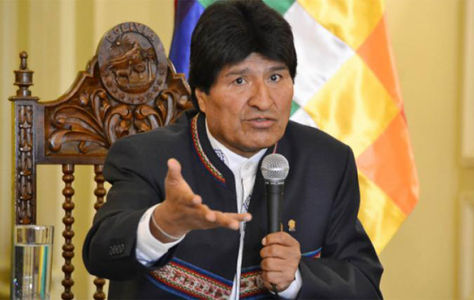 El presidente Evo Morales, brinda conferencia de prensa.