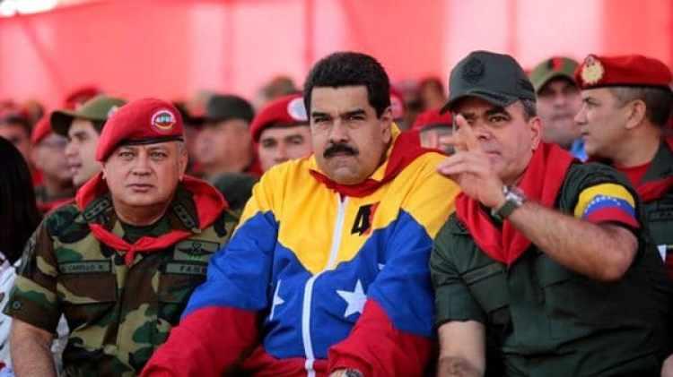 Disdodado Cabello, Nicolás Maduro y Padrino López