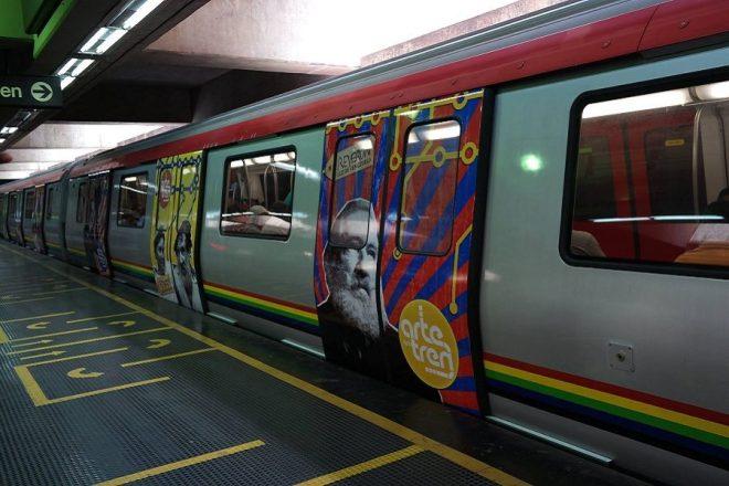 Un tren del sistema Metro de Caracas. AVN /Referencial
