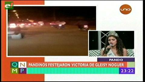 Pandinos celebraron el triunfo de Gleisy Noguer, Miss Bolivia Universo 2017