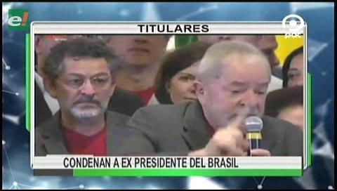 Video titulares de noticias de TV – Bolivia, noche del miércoles 12 de julio de 2017