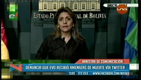 Ministra de López denuncia que Morales recibió amenazas de muerte vía Twitter