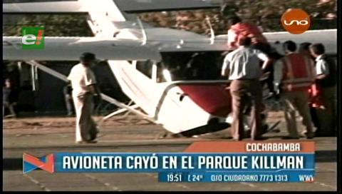 Piloto resulta herido tras caer su avioneta en Cochabamba