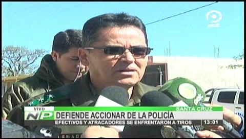 Atraco a Eurochronos: Comandante de Santa Cruz defiende accionar de la Policía