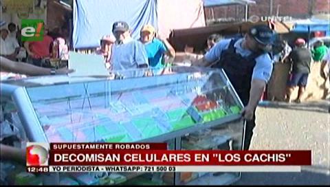"""Santa Cruz: Operativo contra venta de celulares robados en """"los cachivachis"""""""
