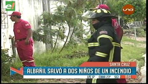 2 niños encerrados en un cuarto se salvaron de morir quemados