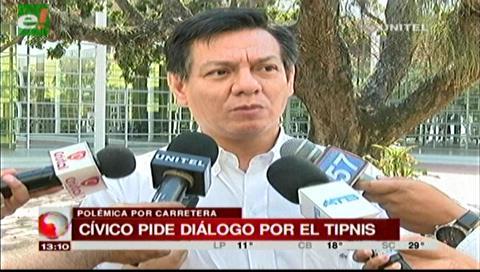 Cívicos cruceños piden diálogo por el TIPNIS