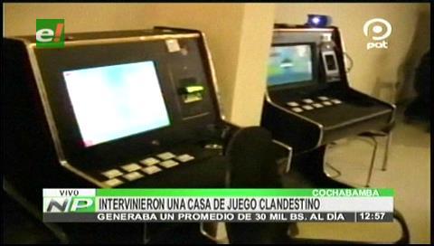 Intervinieron una casa de juego clandestina en Cochabamba