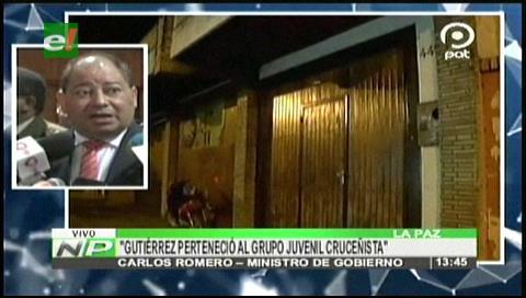 """Romero: El """"narcoasesor"""" proviene de grupo arrepentido de la Unión Juvenil Cruceñista"""