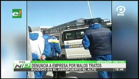 Denuncian a empresa de transporte de El Alto por malos tratos