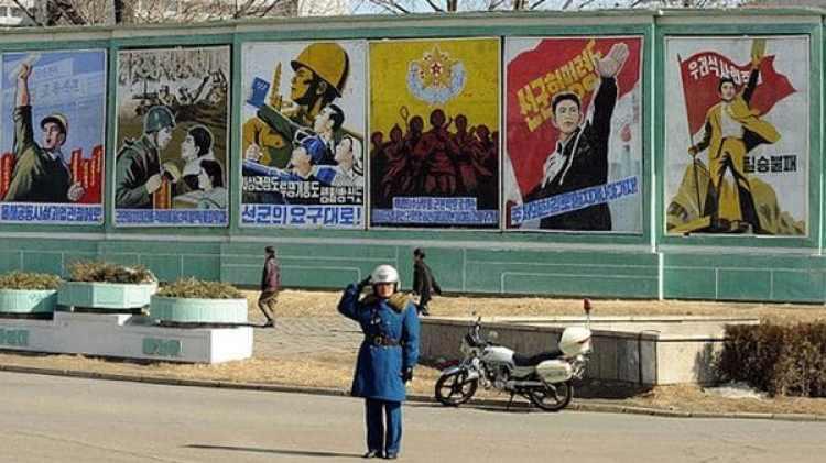 Propaganda norcoreana en Pyongyang