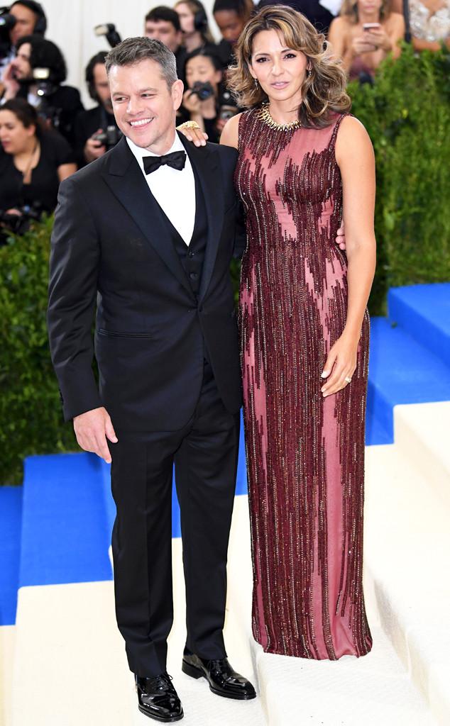 Matt Damon, Luciana Barroso, 2017 Met Gala, Couples