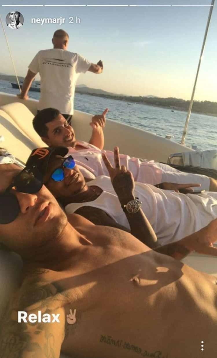 Neymar se mostró relajado