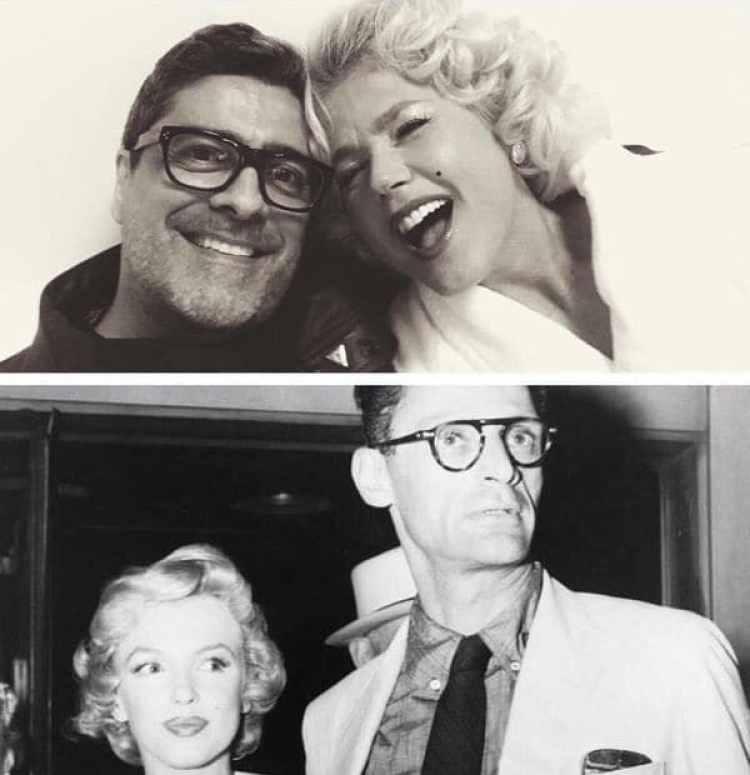 Divertida, Xuxa jugó a imitar la foto de la diva y Henry Miller junto a su pareja, Junno Andrade