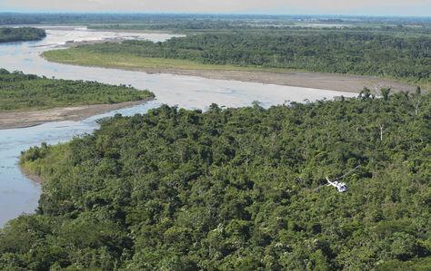 vista aérea del Territorio Indígena y Parque Nacional Isiboro Sécure (TIPNIS).