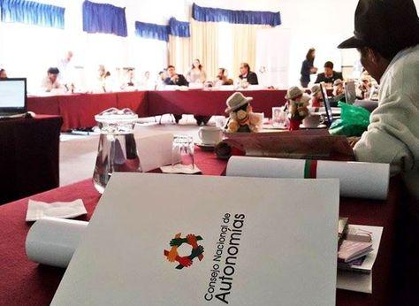 Reunión técnica hacia el pacto fiscal. Foto:Página web del Consejo Nacional de Autonomías