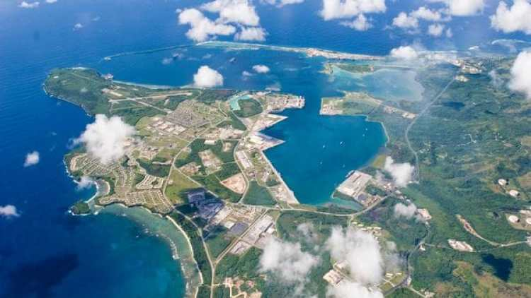 Vista de área de Guam.