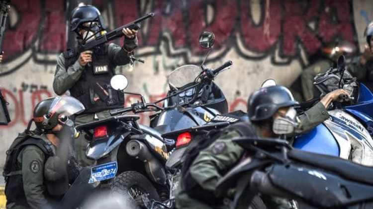 La represión chavista contra la población civil viene en aumento desde el inicio de las protestas en febrero