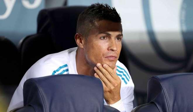 Cristiano, suplente en la ida de la Supercopa de España.