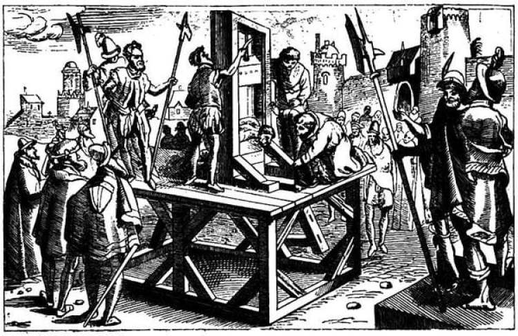 Cortar la cabeza estaba reservado para los nobles porque era un método más rápido y causaba menos dolor. Imagen: Wikimedia