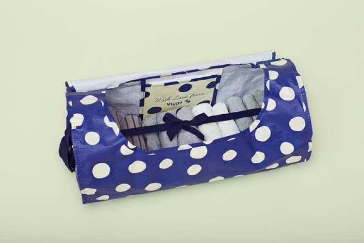 La caja de ropa de Vigga. (Daniel Stjerne/vigga.us)