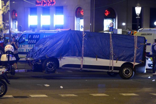 La furgoneta empleada en el atentado