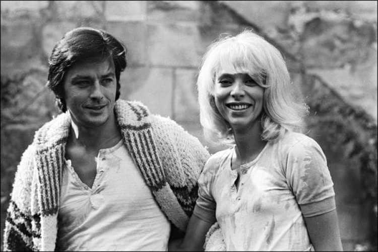 Alain Delon y Mireille Darc