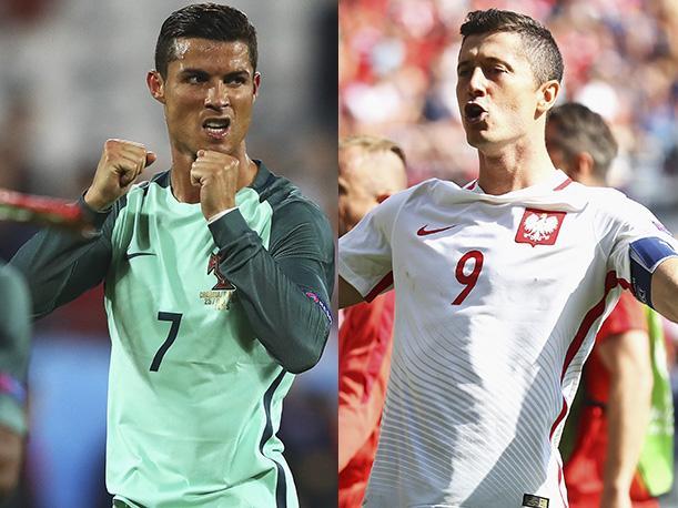 Resultado de imagen para Ronaldo y Robert Lewandowski
