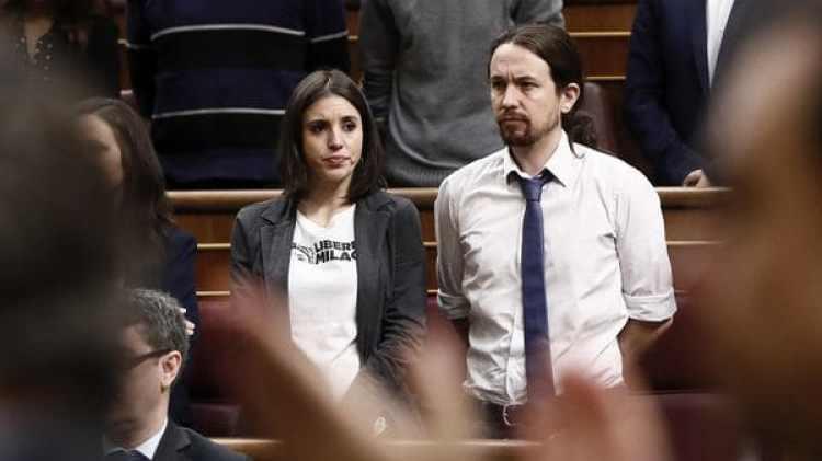 Irene Montero y Pablo Iglesias, líderes del partido político español Podemos (EFE)