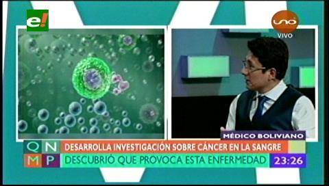 Médico boliviano descubre qué provoca cáncer en la sangre