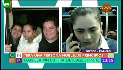 Daniela Pinto: Mi padre no merecía ser llamado ladrón