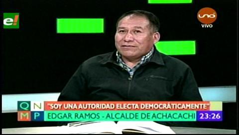 No renunciaré, Edgar Ramos alcalde de Achacachi