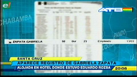 Gabriela Zapata estuvo alojada en Hotel Asturias en la misma fecha que Rózsa y su grupo
