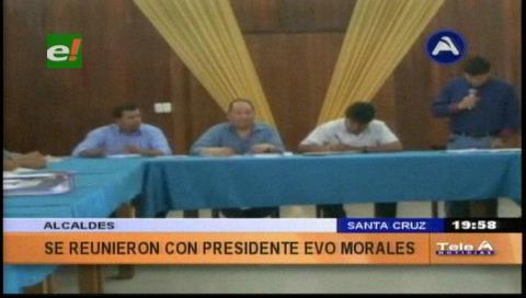 Santa Cruz: Morales coordina con alcaldes la entrega de recursos y obras para septiembre
