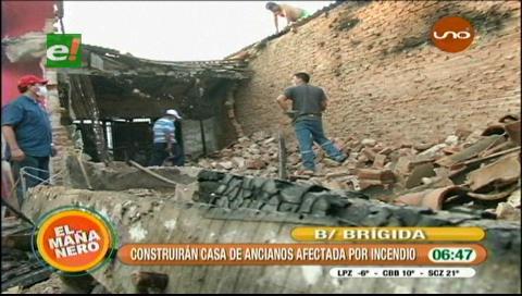 Construirán vivienda a familia afectada por incendio en el barrio Brigida