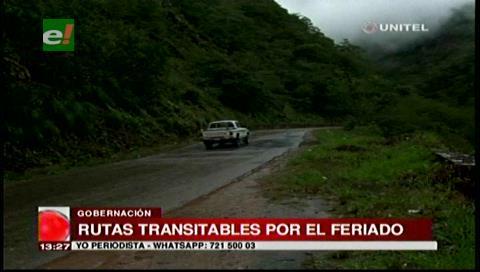 Feriado: Vías que unen a Santa Cruz con el país están expeditas