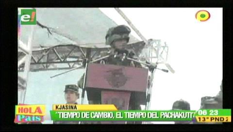 """Comandante de las FF.AA: """"Tiempo de cambio, el tiempo del Pachakuti"""""""