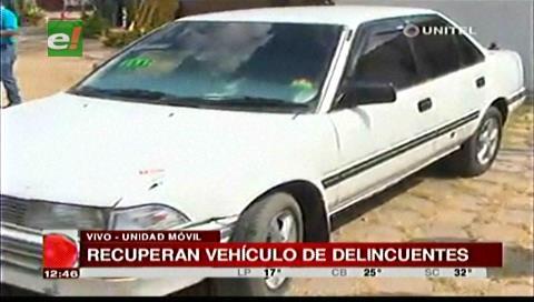 Recuperan vehículo que fue utilizado para intentar atracar una cooperativa
