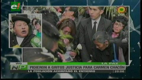 Dan el último adiós a  Carmen Chacón al ritmo de una morenada