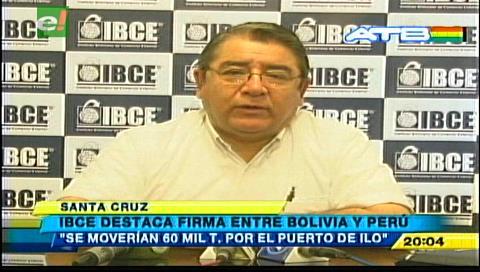 Puerto de Ilo: IBCE destaca acuerdo entre Bolivia y Perú