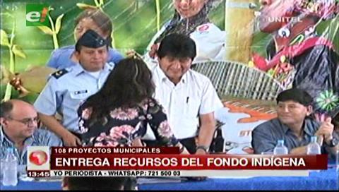 Presidente recibe 108 proyectos de municipios de Santa Cruz para financiar con el Fondo Indígena