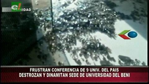 Hechos vandálicos: Así quedaron las instalaciones de la Universidad de Beni